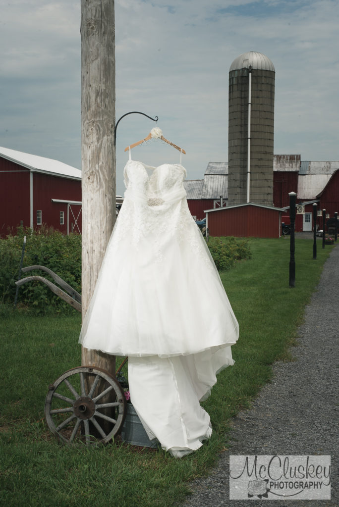 wedding dress at sunset acres