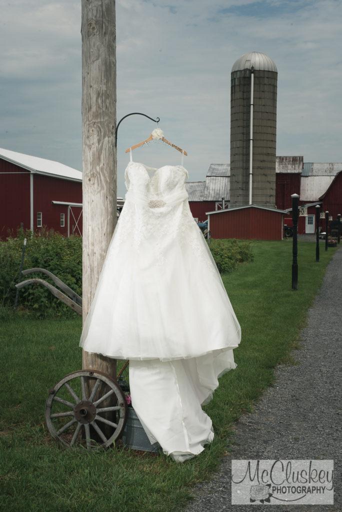 wedding dress at sunset acres